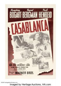 Casablanca original movie poster