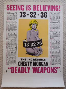 Chesty Morgan calendar