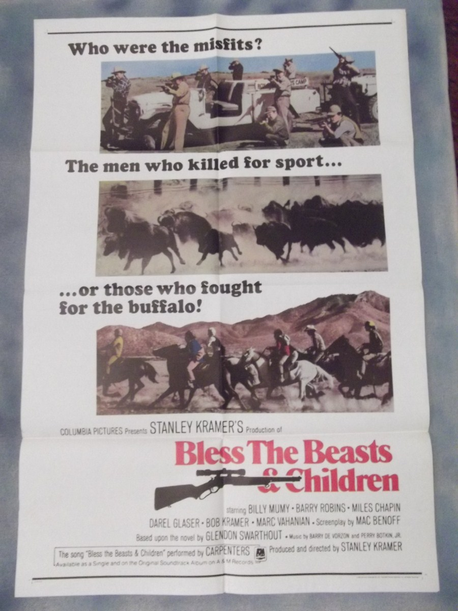 an analysis of bless the beast and the children Bless the beasts and children is a 1970 novel by glendon swarthout that tells the story of several emotionally disturbed boys away at summer camp who unite to stop a buffalo hunt the 151-page book covers some social issues of the 1960s and 1970s it was published by doubleday and co an unabridged audiobook.