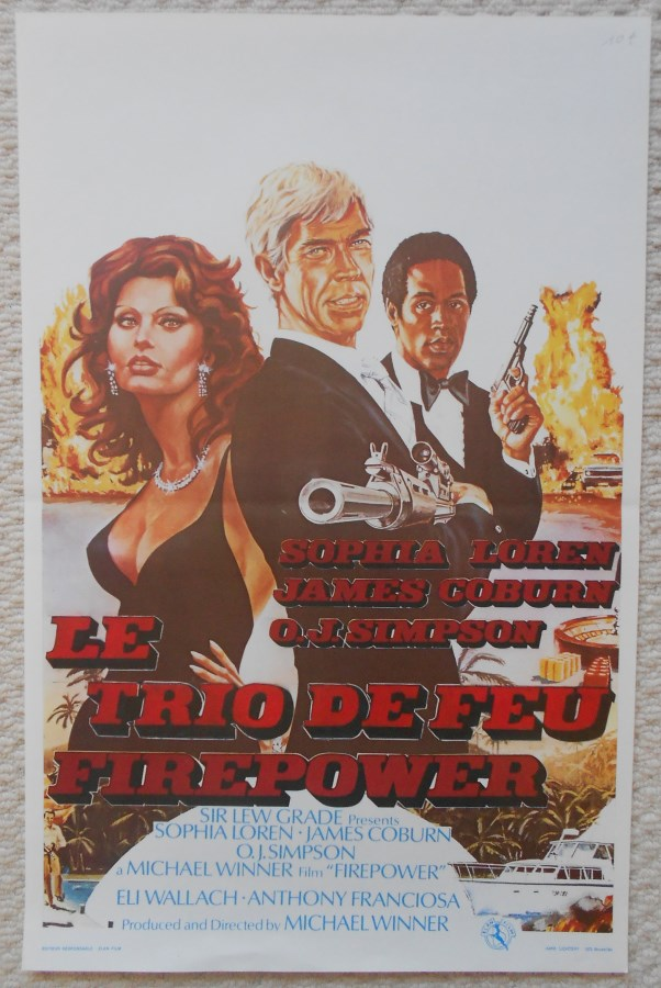 firepower original belgian movie poster sophia loren james