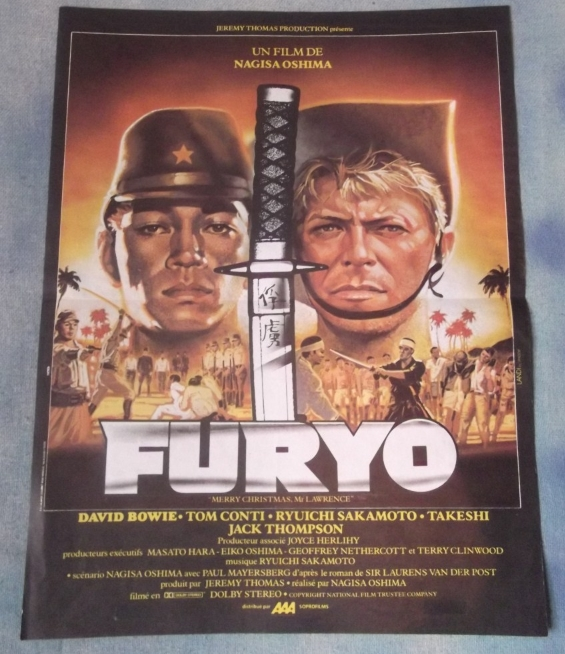 Merry christmas mr lawrence vintage french movie poster david bowie