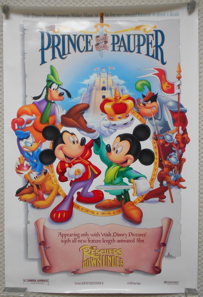 Prince And The Pauper Original Ds Movie Poster Walt Disney
