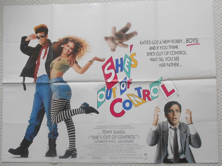 Shes Out of Control Original UK Quad Poster Tony Danza Ami ...