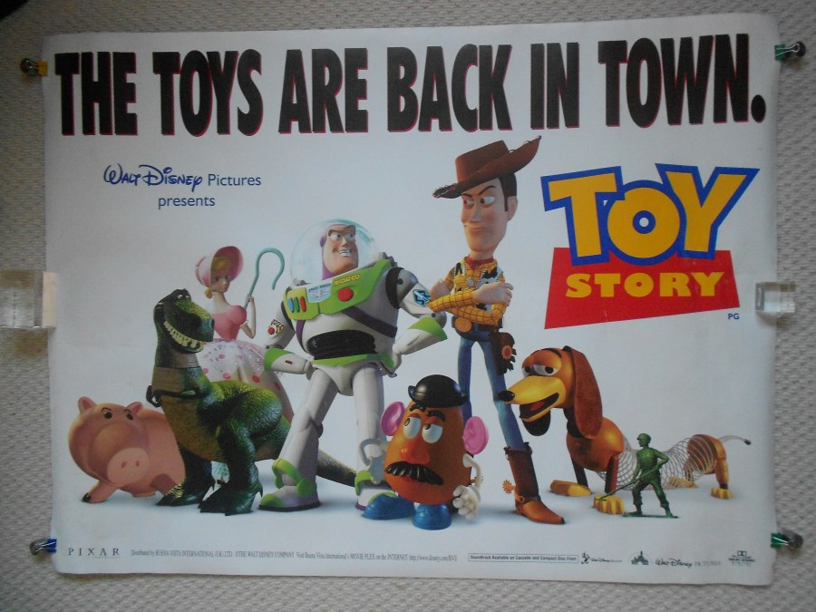 Toy Story, Original DS UK Quad Poster, Tom Hanks, Buzz, Woody, '95