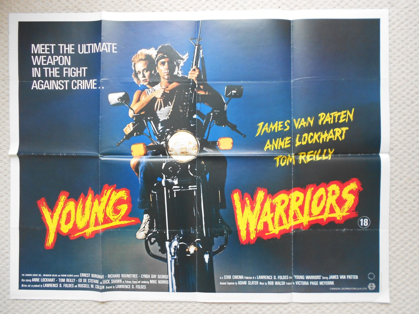 Young Warriors Original Uk Quad Poster Ernest Borgnine