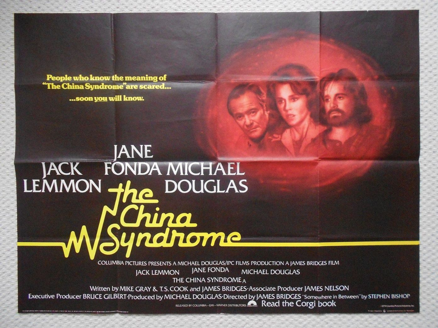 China Syndrome Original UK Quad Poster Jane Fonda Jack Lemmon ...
