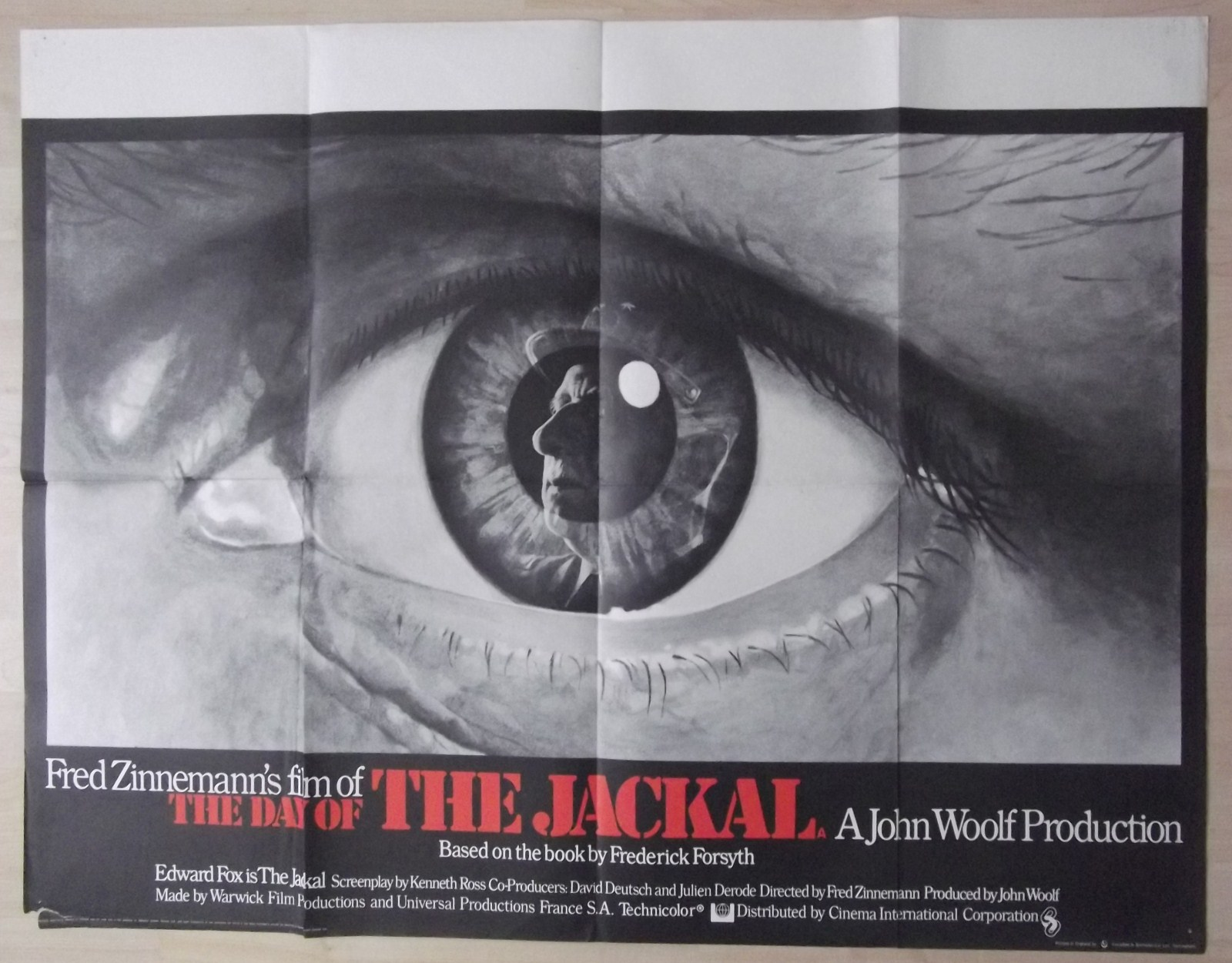 Day of the Jackal Original UK Quad Poster Edward Fox Frederick ...