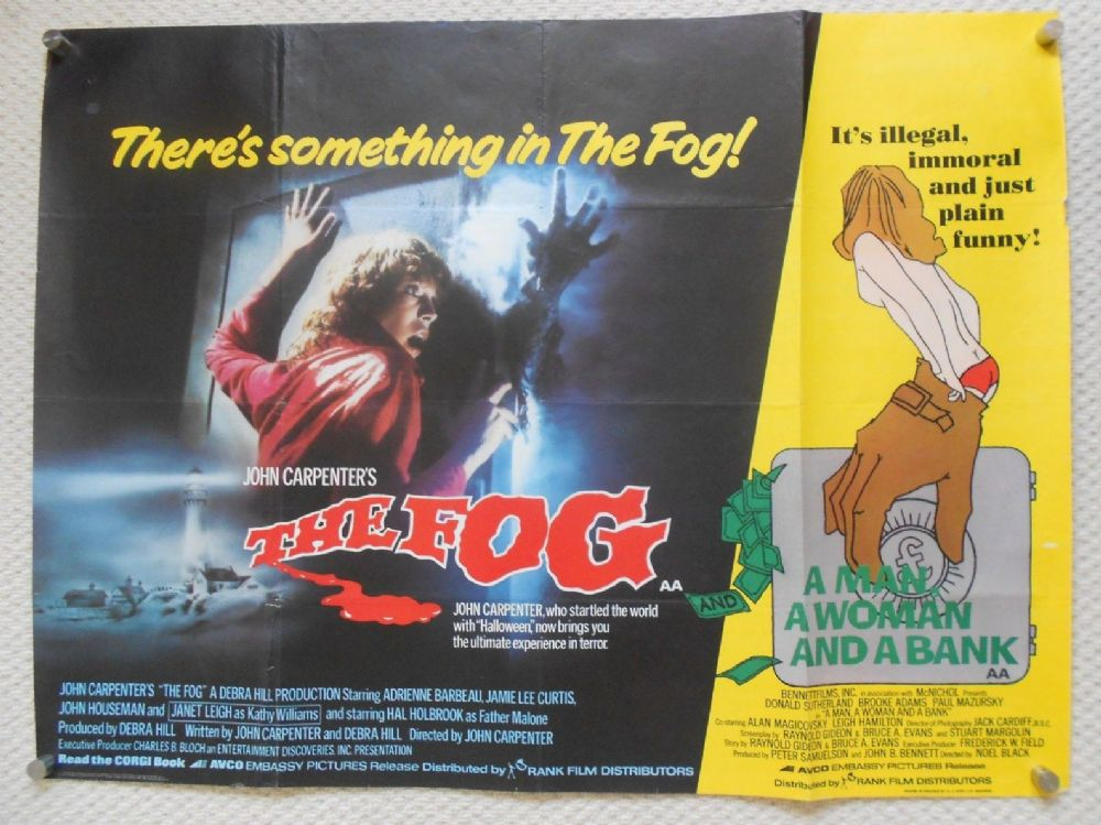 Fog Man a Woman and a Bank Original Combo UK Quad Poster 80