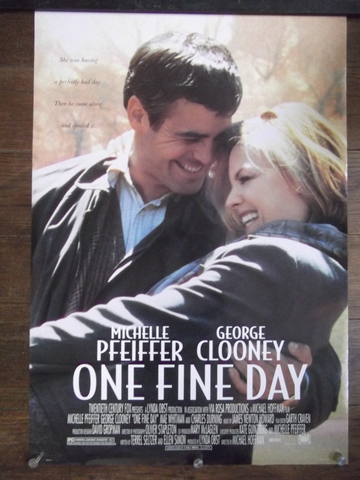 One Fine Day Original DS Movie Poster George Clooney ...