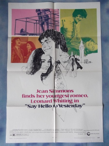 Say Hello To Yesterday Movie Poster Jean Simmons Leonard Whiting 71