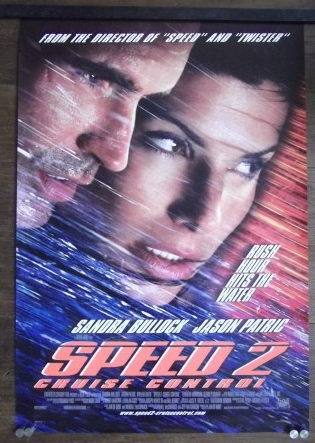 Speed 2 Original Ds Movie Poster Sandra Bullock Jason