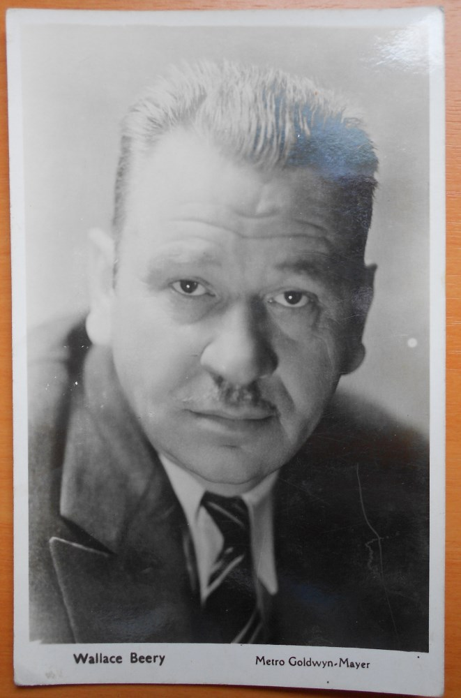 wallace beery actor vintage mgm postcard c30