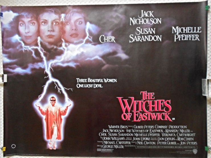 Witches of Eastwick Original UK Quad Poster Cher Michelle Pfeiffer ...